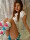 Kori in knee high socks