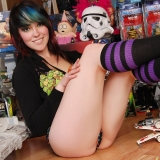 Kates cute girlfriend Sabrina shows off her toys while playing around with a bunch of Star Wars toys