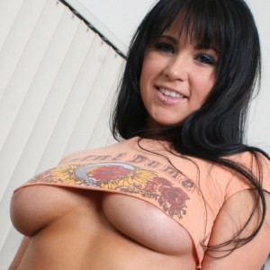 Chloe James is teasing with her huge juicy tits