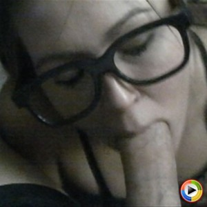 Watch as Carmen sucks her friends cock while wearing glasses