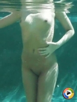 Craving Carmens perfect body looks amazing underwater as she plays naked in the pool