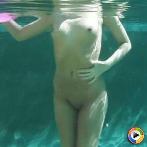 Craving Carmen Nude: Craving Carmen's perfect body looks amazing underwater as she plays naked in the pool