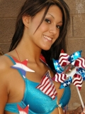 Kates sexy girlfriend Rio celebrates July 4th in a very patriotic skimpy outfit
