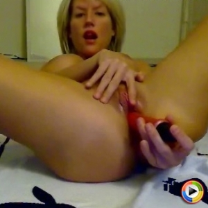 Busty blonde CamWhore Marissa fucks her tight pussy hard till she cums all over her dildo