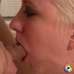 CamWhore slut Cherry Torn gags on a cock as shes giving her friend a blowjob
