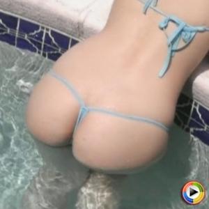 Watch as Kates sexy slutty girlfriend Alejandra shows off in the pool in a very skimpy string bikini